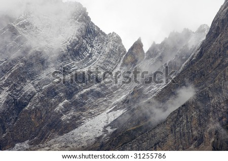 rugged mountains in Pyrenees