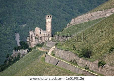 Ruin of castle Ehrenfels - stock photo