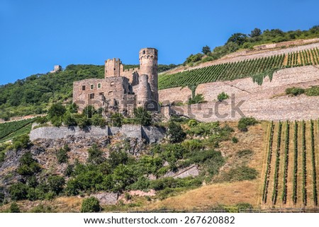 Ruin of castle Ehrenfels, Germany - stock photo