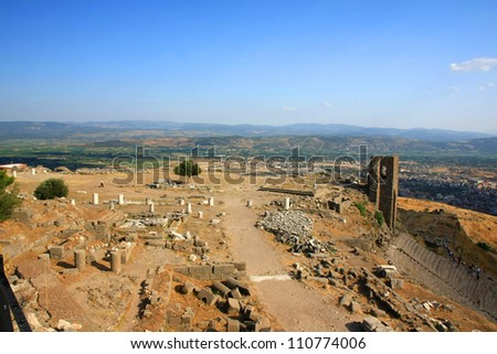 ruins in ancient city of Pergamon, Turkey