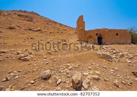 Ruins In Sand Hills of Samaria, Israel - stock photo