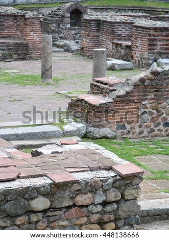 Ruins in the Grounds of St George Church in Sofia, Bulgaria