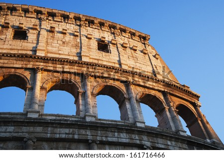 Ruins of an Amphitheater, Colosseum, Rome, Lazio, Italy