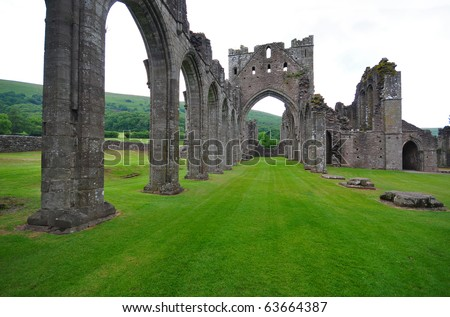 Ruins of an old Abbey - UK - stock photo