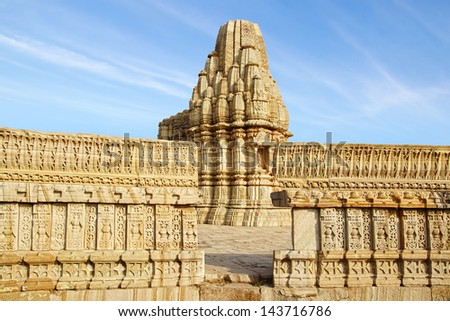 Ruins of ancient Cittorgarh Fort. Cittorgarh, India - stock photo