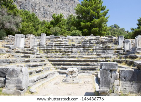 Ruins of ancient city of Priene, Turkey