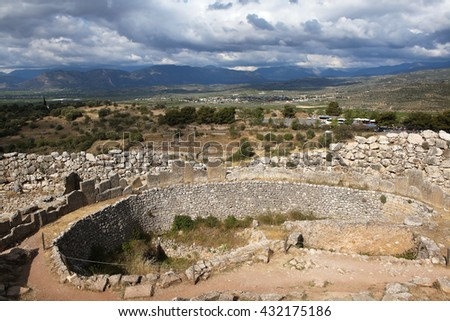 Ruins of ancient Mycenae. Greece.