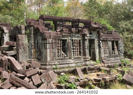 Ruins of Beng Mealea Temple, Angkor, Cambodia/Ruins of Beng Mealea, Angkor, Cambodia - stock photo