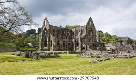 Ruins of cistercian monastery Tintern - stock photo