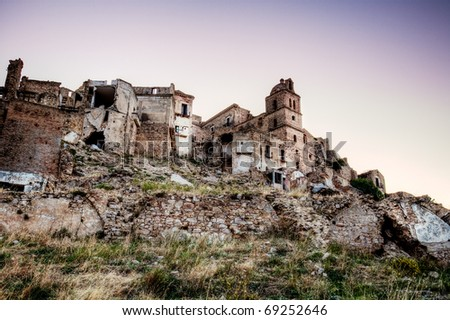 ruins of Craco (Italy) - stock photo