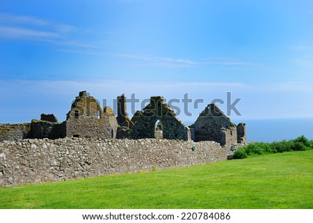 Ruins of Dunnotar castle, Scotland on the beauty summer day