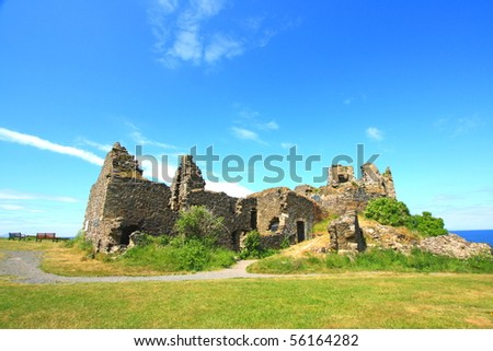 Ruins of Dunure Castle, Ayrshire, Scotland