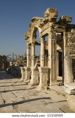 Ruins of Ephesus, Turkey - stock photo
