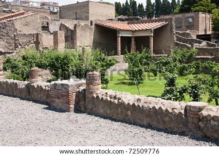 Ruins of Ercolano - stock photo
