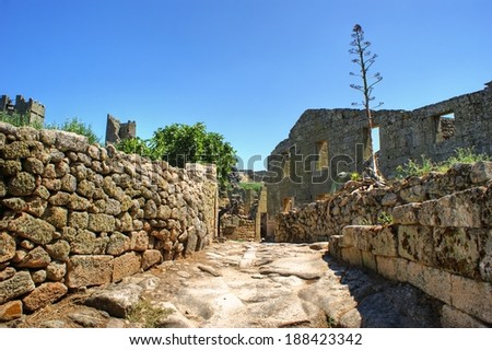 Ruins of Marialva historical village in Meda, Portugal