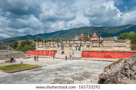 Ruins of Mitla, Oaxaca, Mexico - stock photo