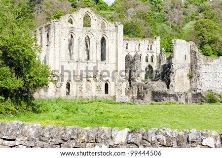ruins of Rievaulx Abbey, North Yorkshire, England