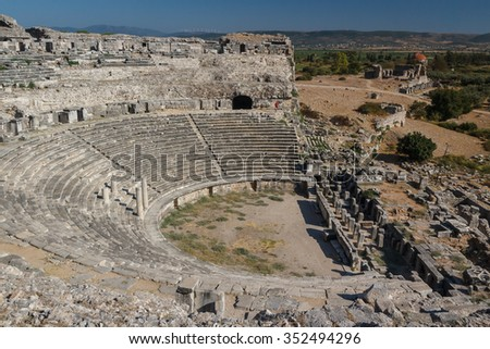 Ruins of the ancient city of Miletus, Turkey