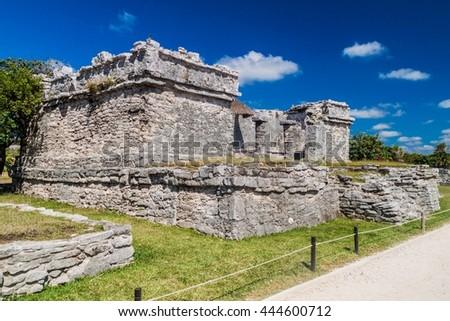 Ruins of the ancient Maya city Tulum, Mexico - stock photo