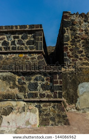 Ruins of the Pyramids of Pre-Columbian city Teotihuacan, Mexico