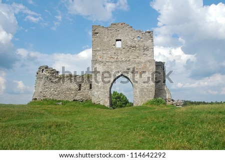 ruins old stone fortress