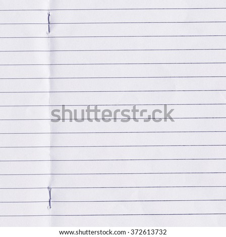 Ruled page. Paper texture - stock photo