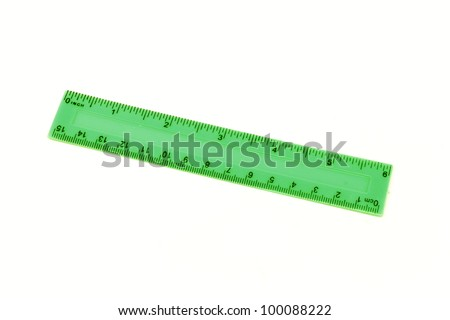 Ruler for measuring school in inches and centimeters - stock photo