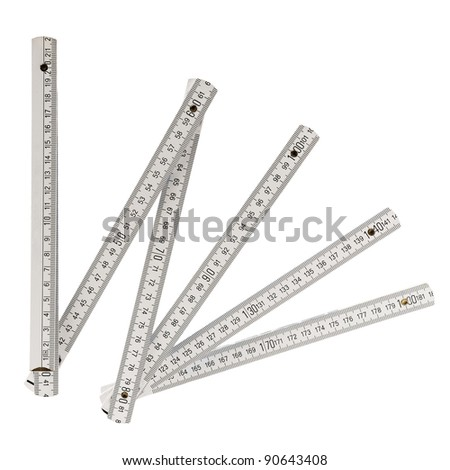 ruler isolated on a white background - stock photo