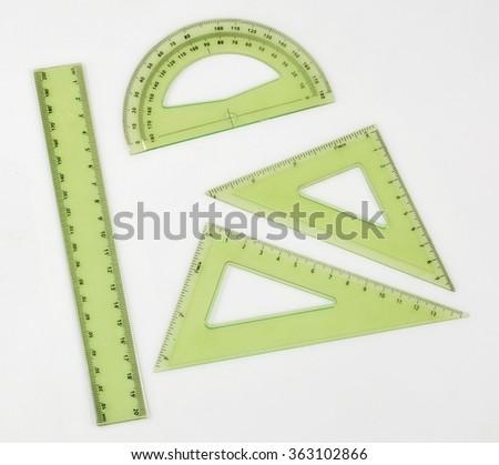 rulers on white background - stock photo