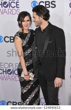 Rumer Willis & Jayson Blair at the People's Choice Awards 2013 at the Nokia Theatre L.A. Live. January 9, 2013  Los Angeles, CA Picture: Paul Smith