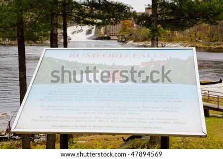 Rumford Falls, Maine, USA - stock photo