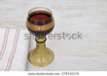 Rummer with red wine - stock photo