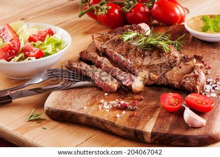 Rump steak  - stock photo