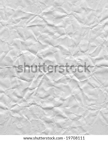 rumpled paper texture - stock photo