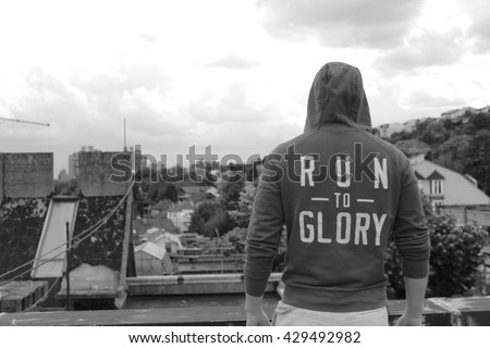 Run to glory - stock photo