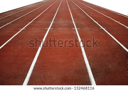 run track - stock photo