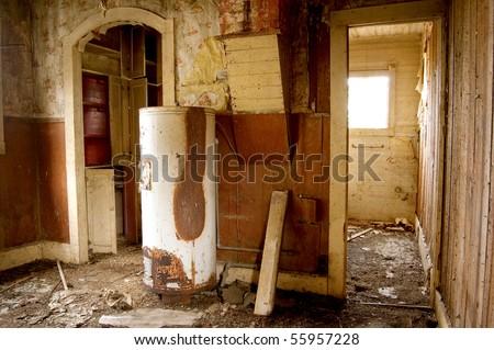 Rundown Room - stock photo