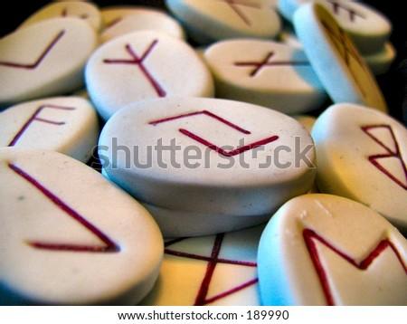 runes macro - stock photo