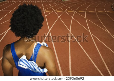 Runner on a Track - stock photo