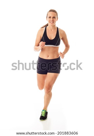 Runner on White - stock photo