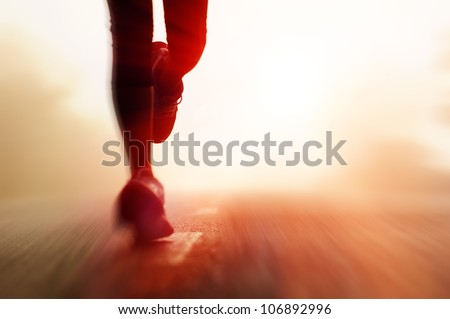 Runner's Feet - stock photo