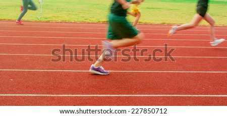 Running on the running track