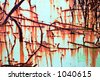 Running rust abstract - stock photo