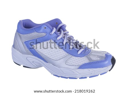 Running shoes for gym isolated on white background.