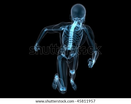 running skeleton