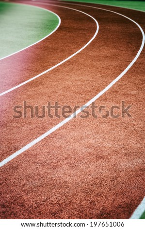 Running track curve  - stock photo