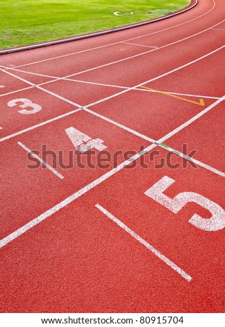 Running track for athletes