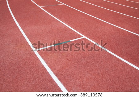 Running track for the athletes background, Selective Focus. - stock photo