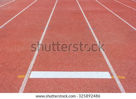 Running track in stadium