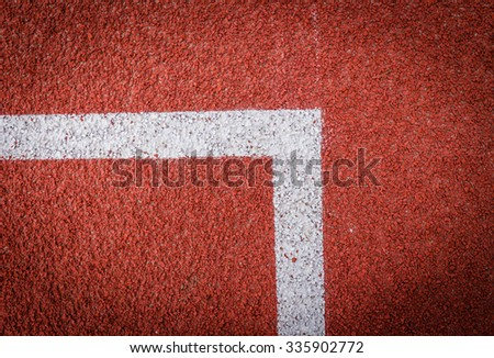 Running track in top view. - stock photo